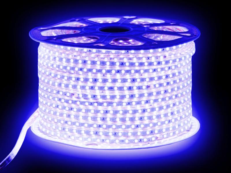 Светодиодная лента URM SMD 5050 60 LED 220V 14.4W IP67 10m Blue N02032