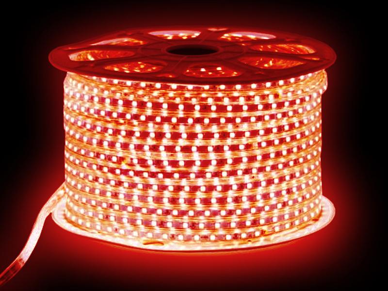 Светодиодная лента URM SMD 5050 60 LED 220V 14.4W IP67 10m Red N02031