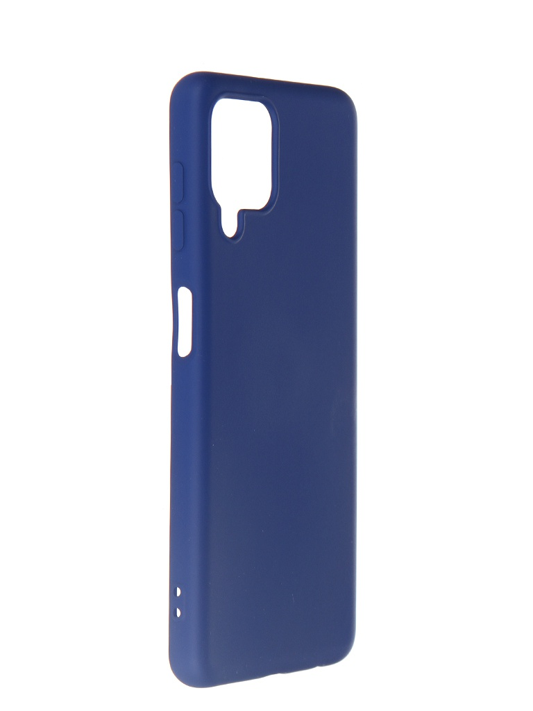 Чехол DF для Samsung Galaxy A22 (4G) с микрофиброй sOriginal-22 Blue