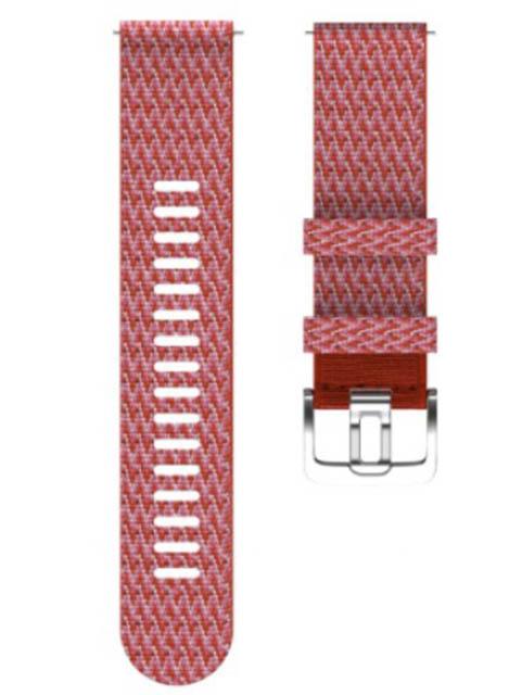 Аксессуар Ремешок для Polar Wrist Band Grit 22mm S-M PET Red 91081743