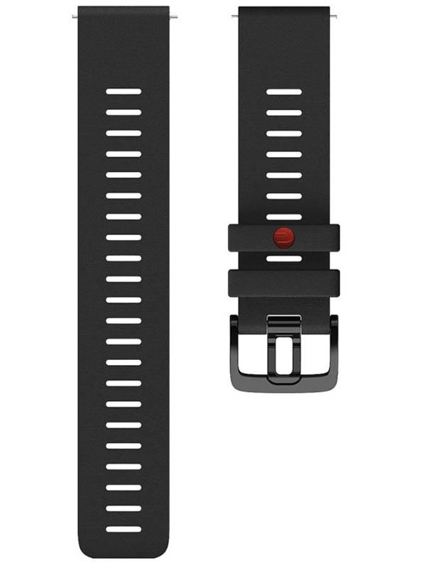 Аксессуар Ремешок для Polar Wrist Band Grit 22mm M-L Silicone Black 91081738
