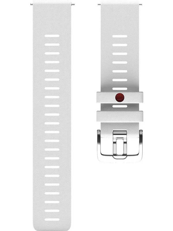 Аксессуар Ремешок для Polar Wrist Band Grit 22mm S-M Silicone White 91081739