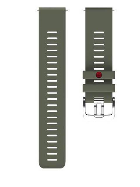 Аксессуар Ремешок для Polar Wrist Band Grit 22mm M-L Silicone Geen 91082601