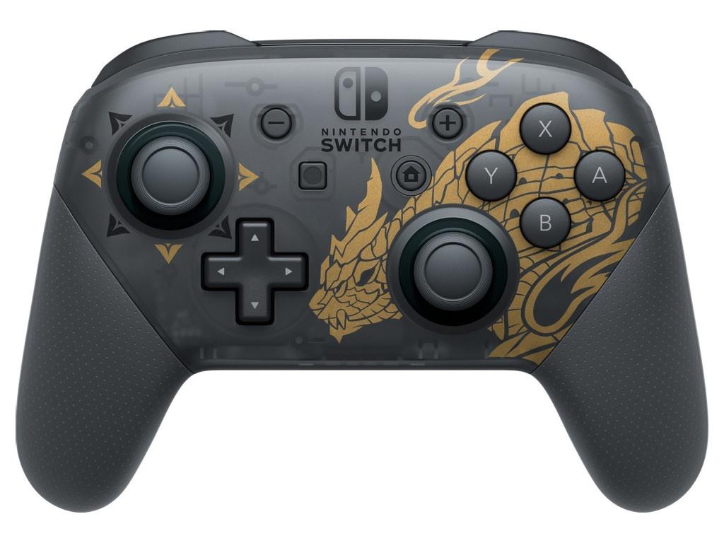 Nintendo Switch Pro Controller Monster Hunter Rise, черный/золотой