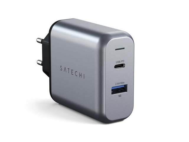 Зарядное устройство Satechi 30W Dual-Port Travel Charger 1xUSB Type-C (PD) Silver ST-MCCAM-EU