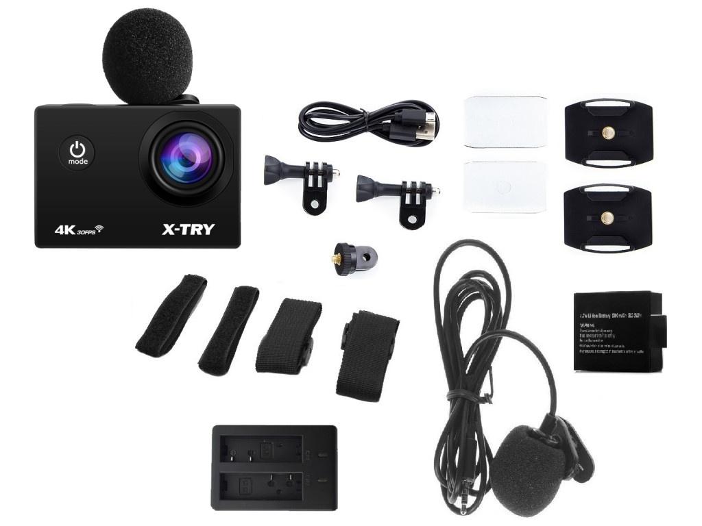 Фото - Экшн-камера X-TRY XTC186 EMR Maximal 4K WiFi экшн камера r wings air 4k wifi rwc001