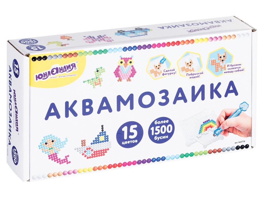 Набор для творчества Юнландия Аквамозаика 663778