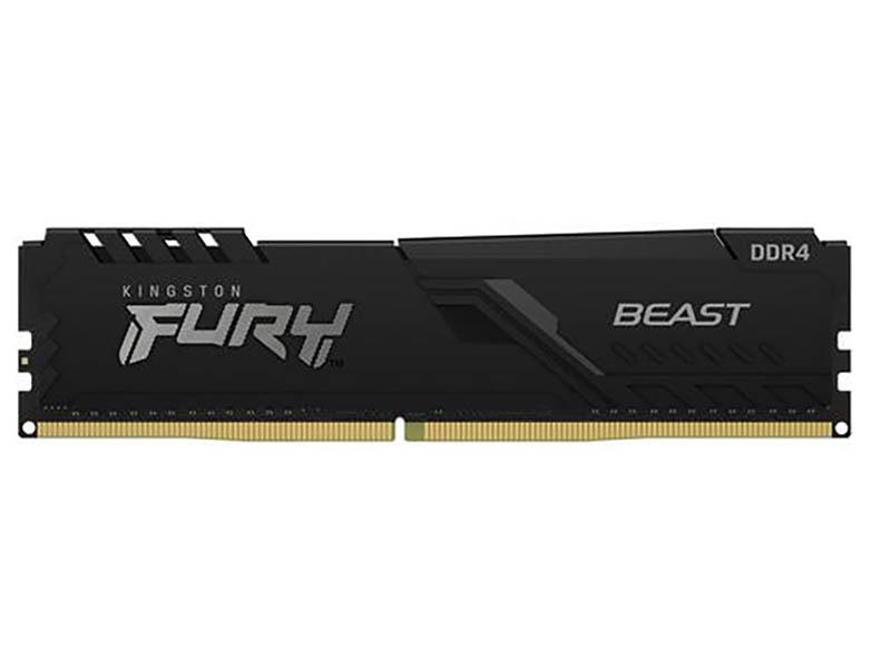 Модуль памяти Kingston Fury Beast Black DDR4 DIMM 2666Mhz PC21300 CL16 - 4Gb KF426C16BB/4