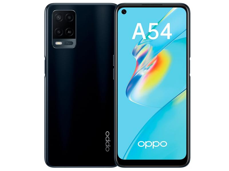 Сотовый телефон Oppo A54 CPH2239 4/128Gb Black Выгодный набор + серт. 200Р!!! сотовый телефон vsmart joy 3 4 64gb purple topaz