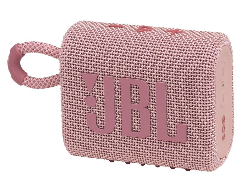 Колонка JBL Go 3 Pink Выгодный набор + серт. 200Р!!! колонка jbl jr pop pink