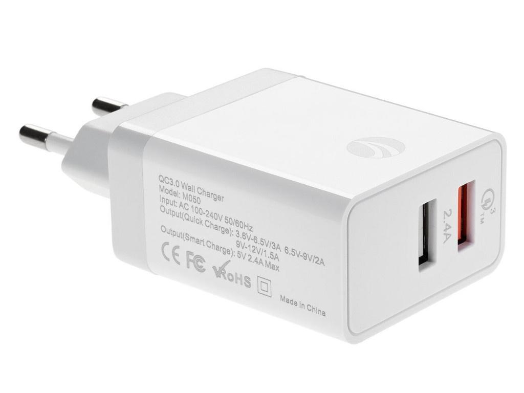 Зарядное устройство Vcom 2xUSB QC 3.0 CA-M050