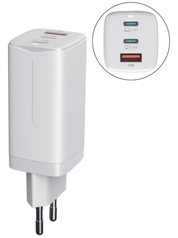 Зарядное устройство Wiwu GaN Charger EU Standard 65W White 6973218936673