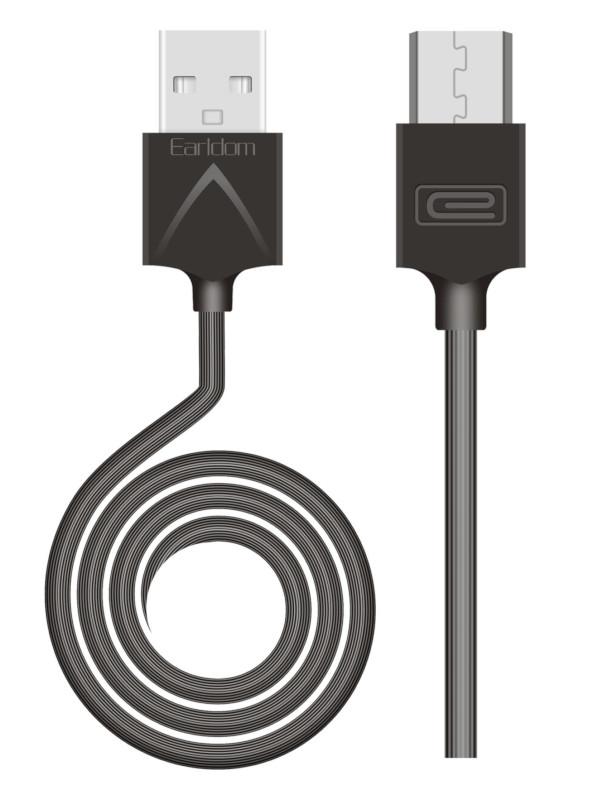 Фото - Аксессуар Earldom EC-066M USB - Micro USB 1m Black аксессуар earldom ec 085m usb micro usb 25cm black