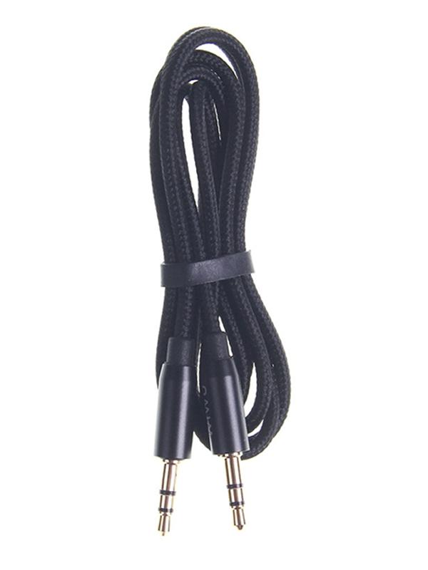Фото - Аксессуар Wiwu YP01 AUX 3.5mm Audio Cable Black 6957815515820 адаптер wiwu t8 lite 2xtype с 2xusb 3 0 grey 6957815508037
