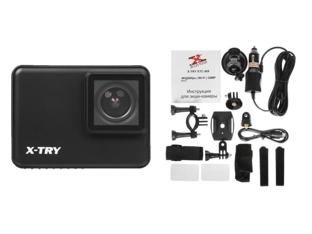 Фото - Экшн-камера X-TRY XTC401 Real 4K/60FPS WDR Wi-Fi Autokit экшн камера x try xtc262 real 4k wi fi power