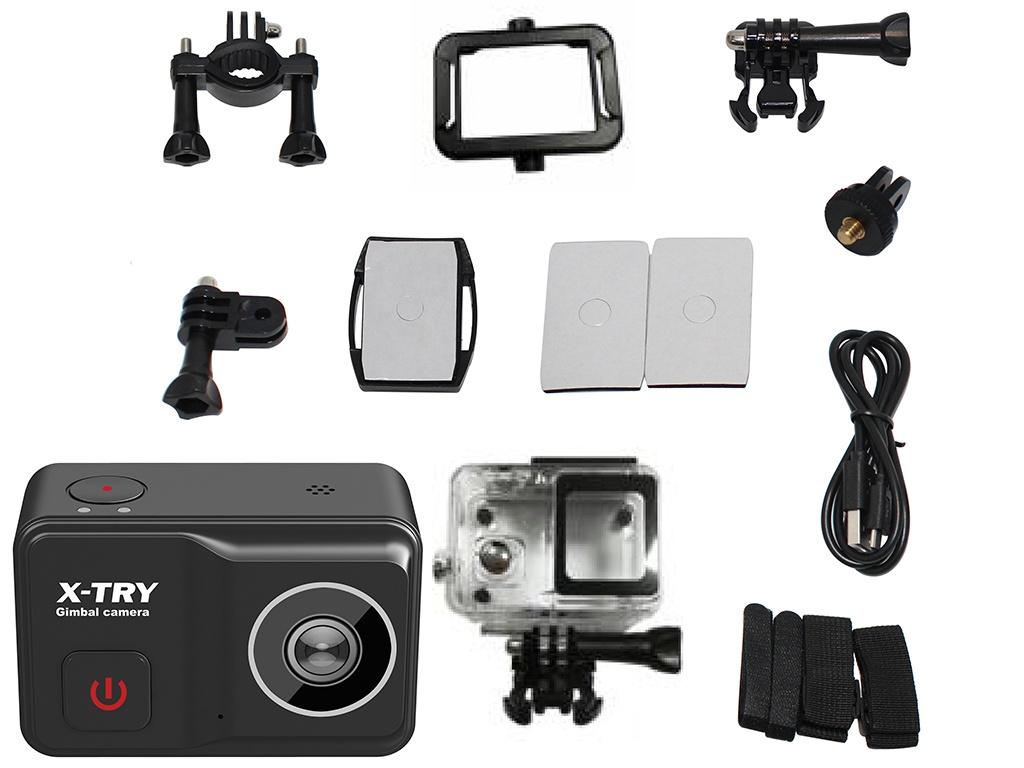 Фото - Экшн-камера X-TRY XTC500 Gimbal Real 4K/60FPS WDR Wi-Fi Standart экшн камера x try xtc262 real 4k wi fi power