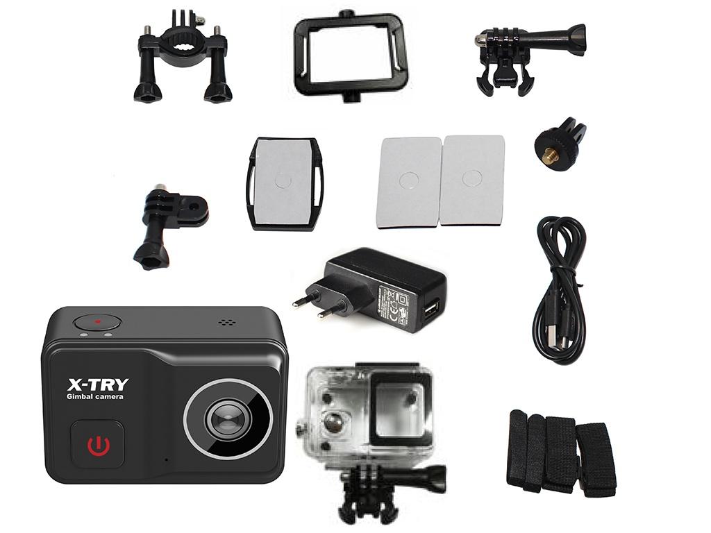 Фото - Экшн-камера X-TRY XTC502 Gimbal Real 4K/60FPS WDR Wi-Fi Power экшн камера x try xtc262 real 4k wi fi power