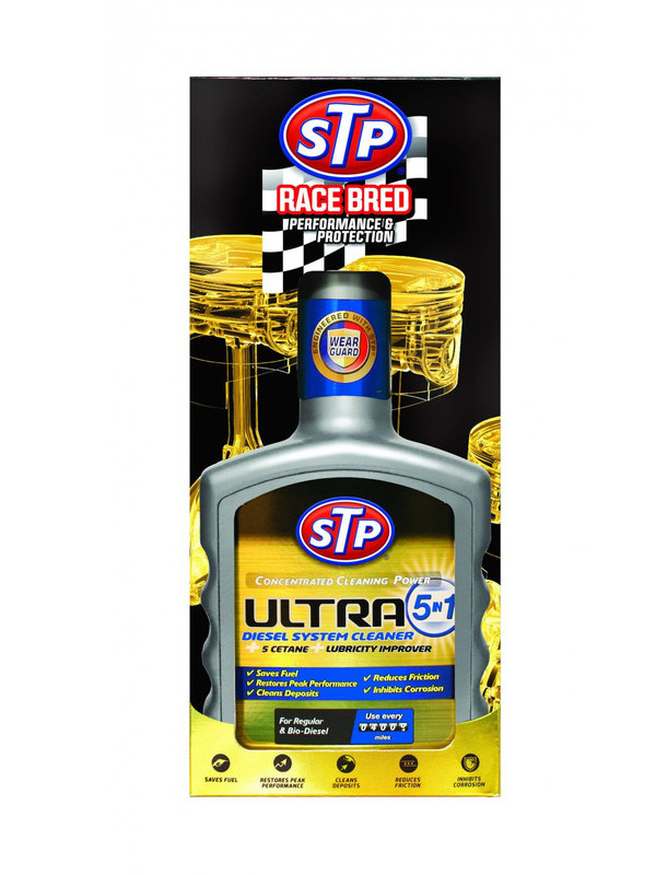 Присадка в топливо для дизельных двигателей STP Ультра 5 в 1 400ml 77400EN