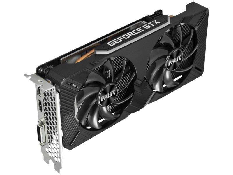 colorful geforce gtx 1660 ti graphics card Видеокарта Palit GeForce GTX 1660 Ti Dual 1500Mhz PCI-E 3.0 6144Mb 12000Mhz 192 bit DVI HDMI DP NE6166T018J9-1160C