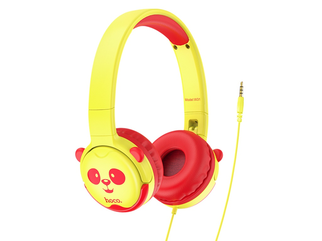 Наушники Hoco W31 Childrens Yellow-Red