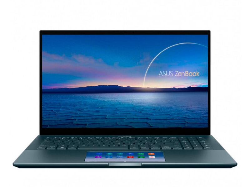 Ноутбук ASUS ZenBook Pro 15 UX535LI-H2171T 90NB0RW1-M05510 (Intel Core i7-10870H 2.2 GHz/16384Mb/512Gb SSD/NVIDIA GeForce GTX 1650 Ti Max-Q 4096Mb/Wi-Fi/Bluetooth/Cam/15.6/3840x2160/Windows 10 Home)