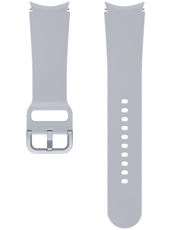 Aксессуар Ремешок для Samsung Galaxy Watch 4 Sport Band M/L Silver ET-SFR87LSEGRU aксессуар ремешок samsung galaxy watch sport band pink et sfr82mpegru для active active 2
