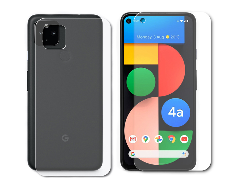 Гидрогелевая пленка LuxCase для Google Pixel 4A 0.14mm Front and Back Matte 86752