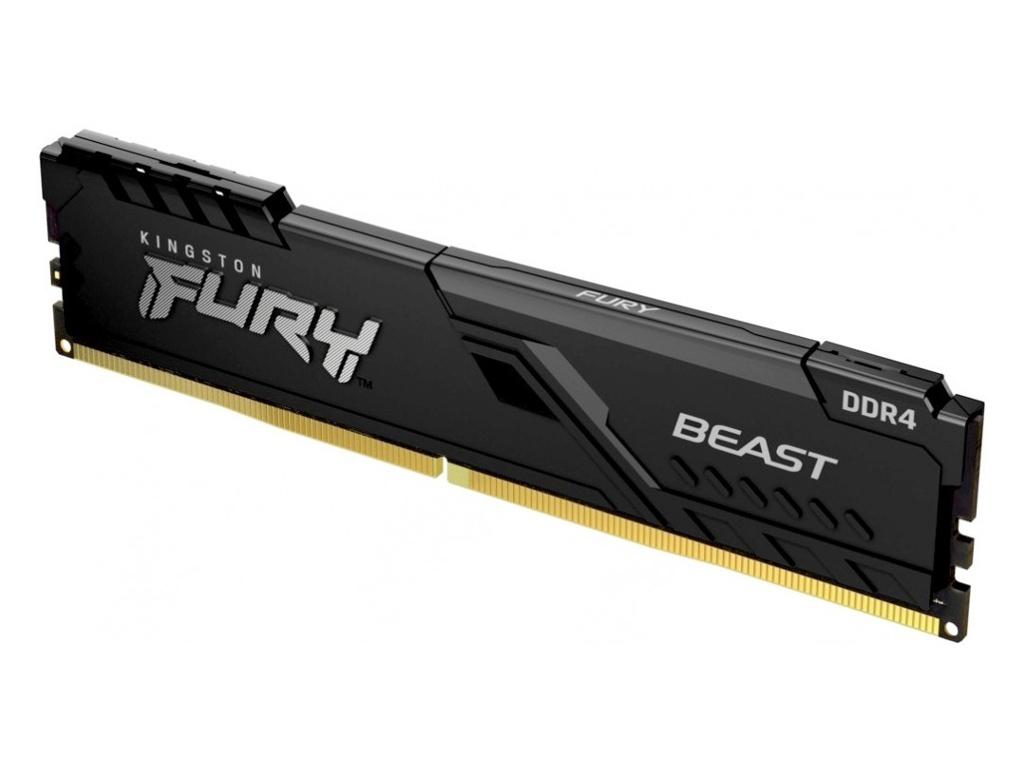 Модуль памяти Kingston Fury Beast Black DDR4 DIMM 3200Mhz PC25600 CL16 - 16Gb KF432C16BB/16