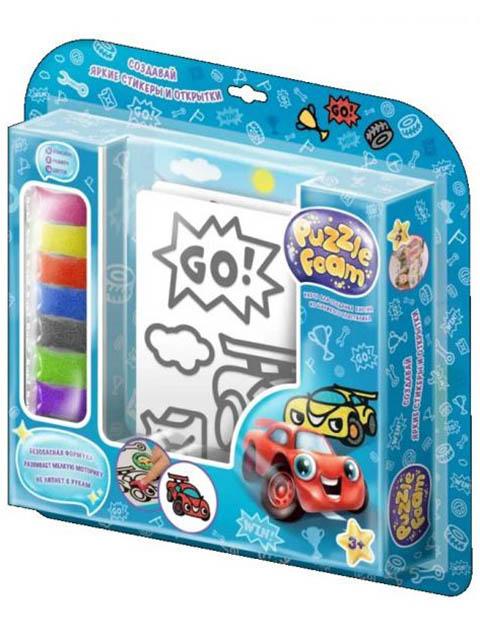 Набор для лепки Puzzle Foam Шариковый пластилин Гонки FM002