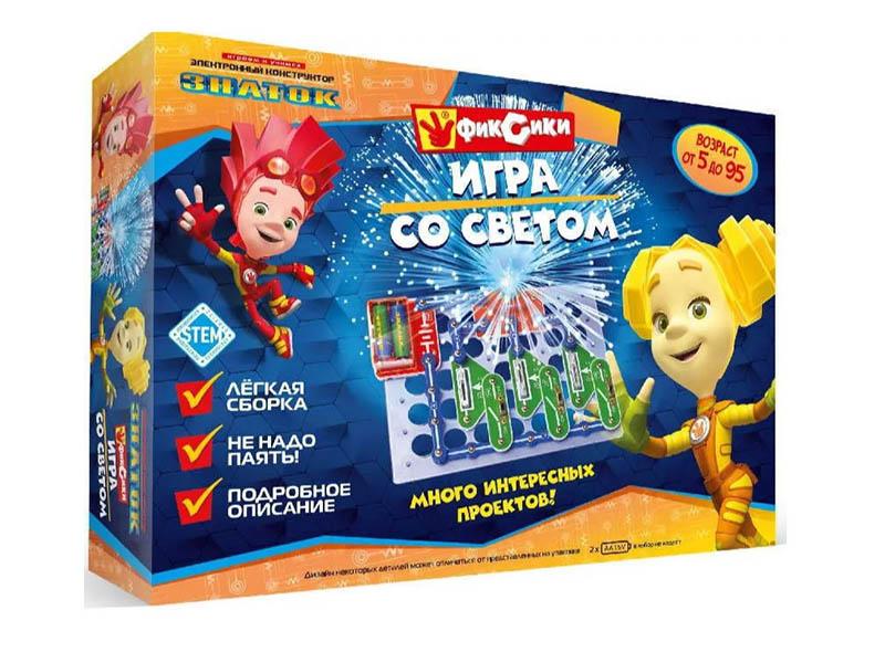 Конструктор Знаток Фиксики Игра со светом ZP-70826
