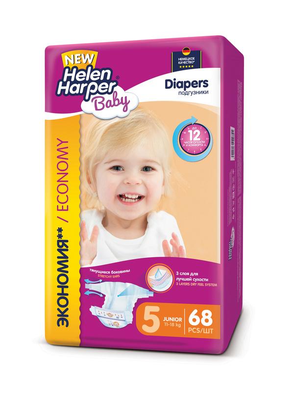 Подгузники Helen Harper Baby Junior 11-18кг 68шт 2312577 / 2314357 helen harper пеленки helen harper baby детские впитывающие 60 90 10шт