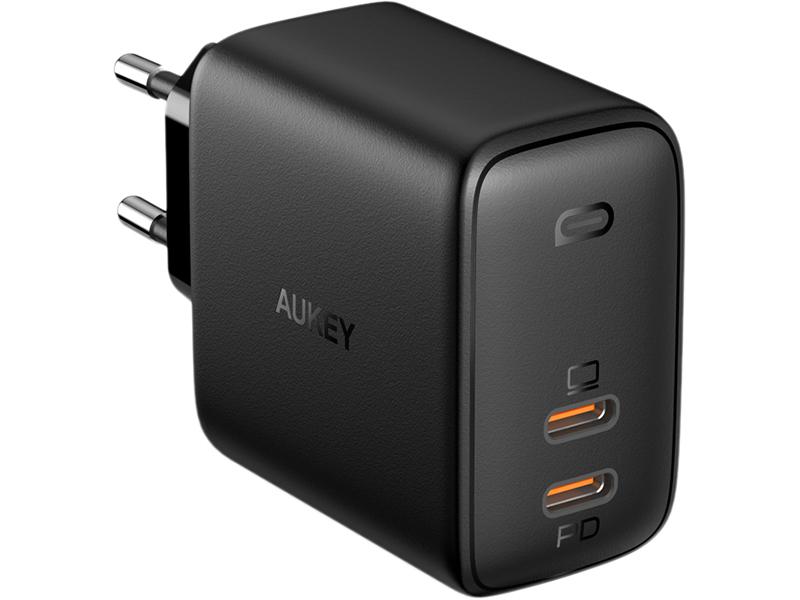 Зарядное устройство Aukey Dual Port PD Wall Charger with GaN Power Tech 65W PA-B4