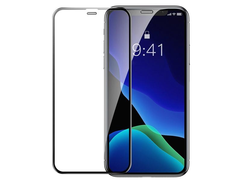 Защитное стекло Baseus для APPLE iPhone XR / 11 Full Screen Curved Privacy Tempered Glass Film Black SGAPIPH61S-WC01