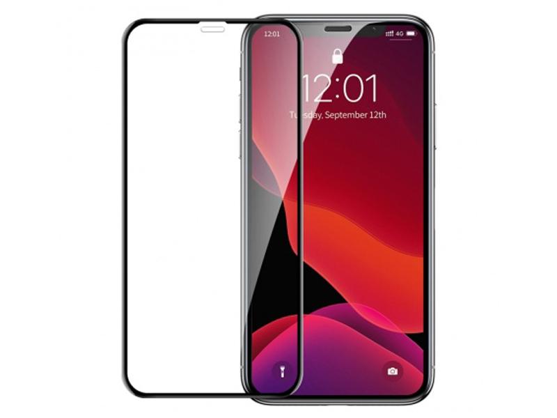 Защитное стекло Baseus для APPLE iPhone X / XS 11 Pro Full Screen Curved Privacy Tempered Glass Film Black SGAPIPH58S-WC01