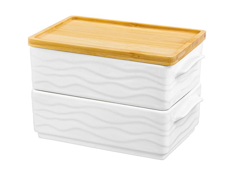 Набор блюд для холодца Elan Gallery Айсберг волны 800ml 2шт 540374