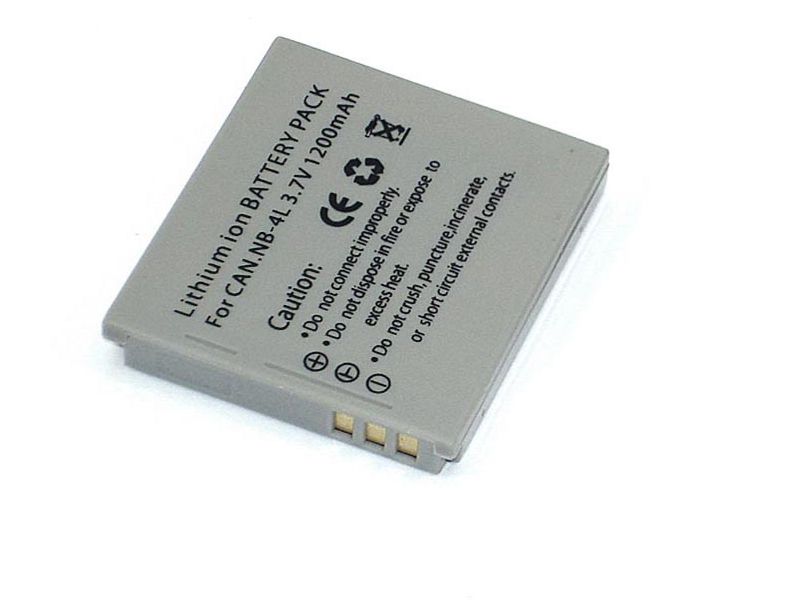 Аккумулятор Vbparts NB-4L 3.7V 1200mAh 077132 для Canon Digital IXUS