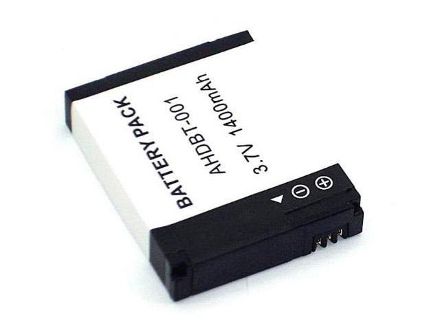 Аккумулятор Vbparts AHDBT-001 3.7V 1400mAh Li-ion 077164 для GoPro HD Hero/Hero 2