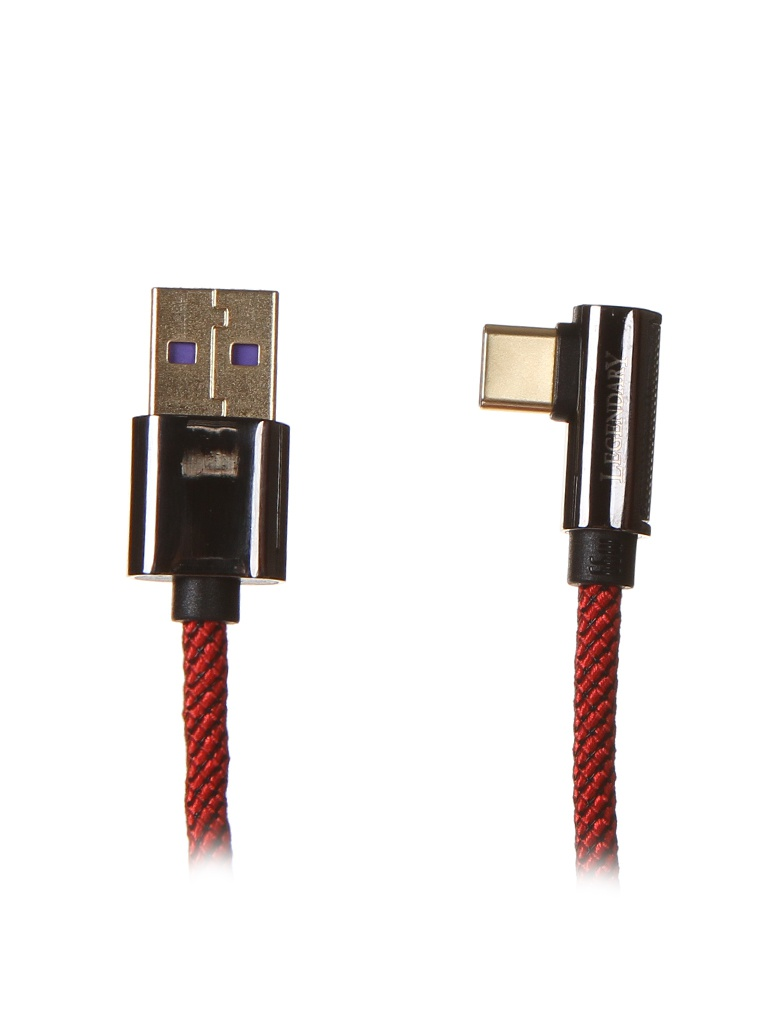 Фото - Аксессуар Baseus Legend Series Elbow Fast Charging Data Cable USB - USB Type-C 1m Red CACS000409 аксессуар baseus white series support vooc usb type c 5a 1m black catsw f01