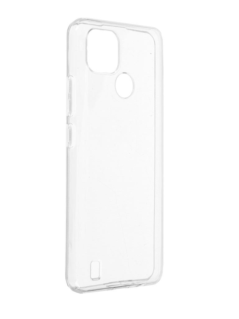 Чехол Brosco для Realme C21 Silicone Transparent RM-C21-TPU-TRANSPARENT