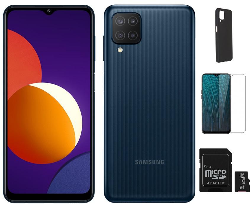 Сотовый телефон Samsung SM-M127F Galaxy M12 3/32Gb Black Выгодный набор + серт. 200Р!!! сотовый телефон samsung sm m127f galaxy m12 3 32gb light blue