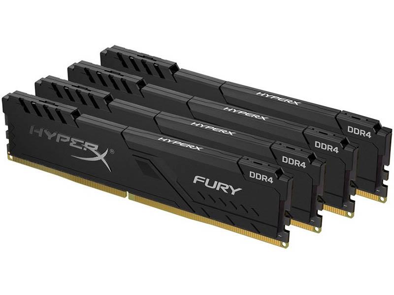 Модуль памяти Kingston Fury Beast Black DDR4 DIMM 3200MHz PC-25600 CL16 - 64Gb Kit (4x16Gb) KF432C16BBK4/64
