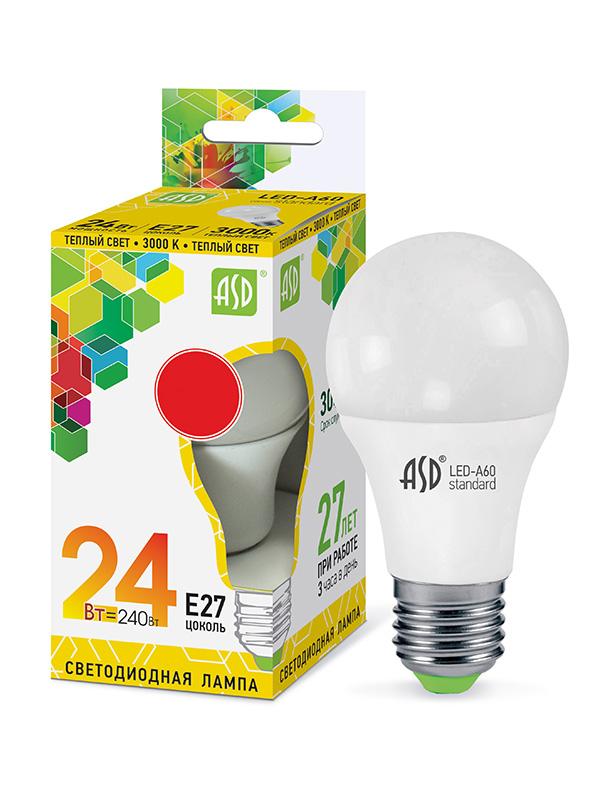Лампочка ASD LED-A65-Standard Е27 24W 230V 3000К 2160Lm 4690612014265