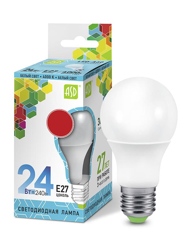 Лампочка ASD LED-A65-Standard Е27 24W 230V 4000К 2160Lm 4690612014272