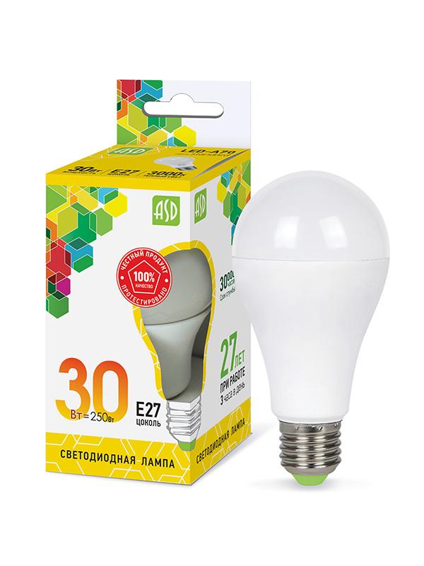 Лампочка ASD LED-A70-STD Е27 30W 230V 3000К 2700Lm 4690612024639
