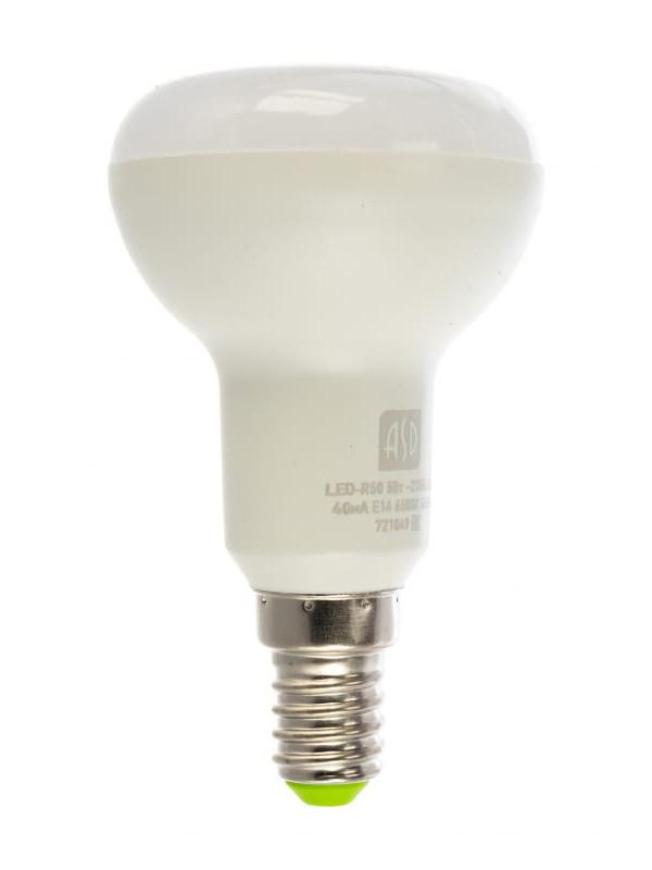Лампочка ASD LED-R50-Standard Е14 5W 230V 6500К 450Lm 4690612026701