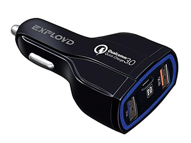 Зарядное устройство Exployd Ray 2хUSB 2.1A PD 18W Black EX-Z-1203
