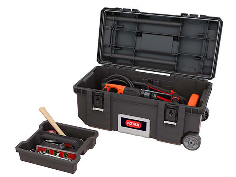Ящик для инструментов Keter Gear 28 Mobile Job Box Black 17210204 ящик для инструментов keter gear tool box 17200382