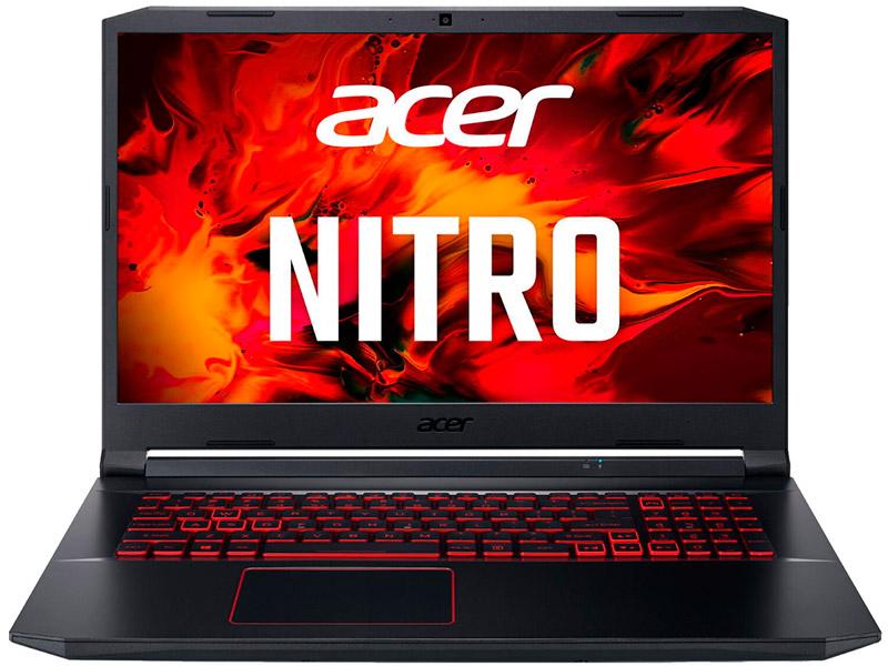 Ноутбук Acer Nitro 5 AN517-52-56RB Black NH.Q82ER.005 (Intel Core i5-10300H 2.5 GHz/8192Mb/512Gb SSD/nVidia GeForce GTX 1650 Ti 4096Mb/Wi-Fi/Bluetooth/Cam/17.3/1920x1080/Windows 10) ноутбук hp pavilion gaming 16 a0046ur 2z7j4ea intel core i5 10300h 2 5ghz 8192mb 512gb ssd nvidia geforce gtx 1650 ti 4096mb wi fi bluetooth cam 16 1 1920x1080 free dos