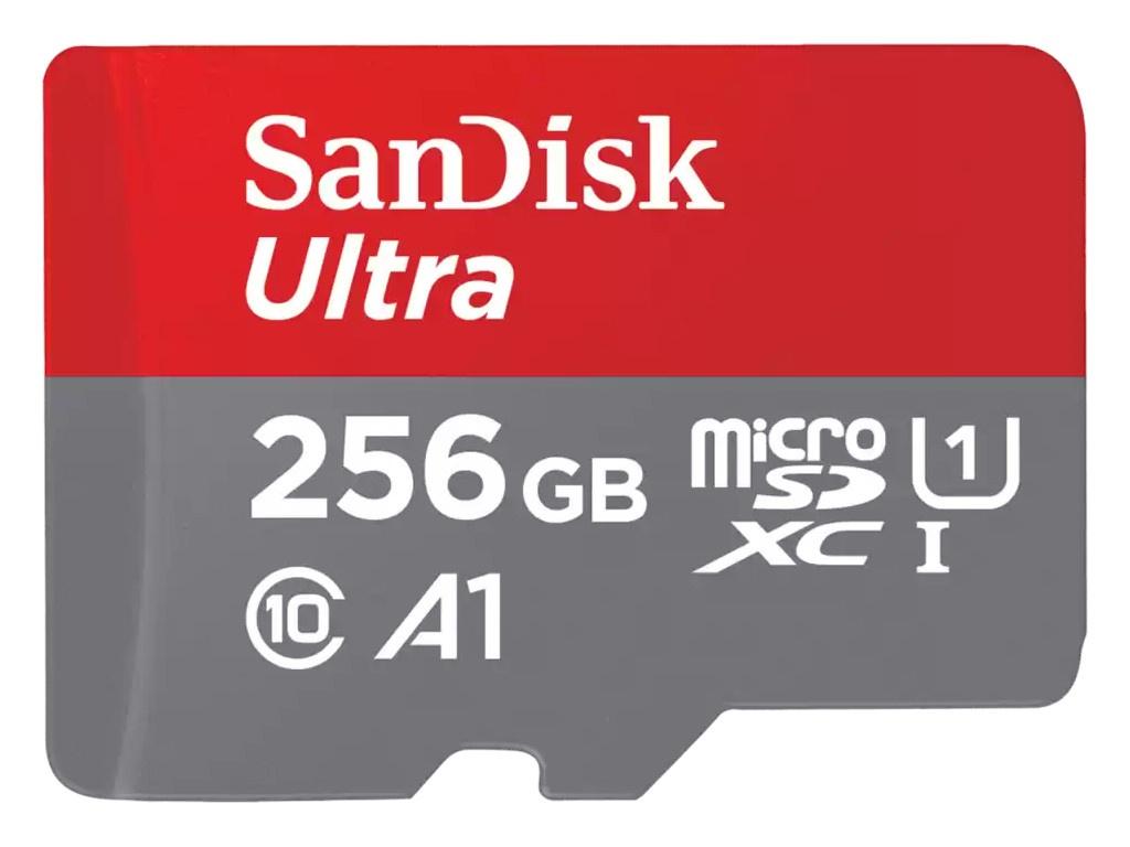 Карта памяти 256Gb - SanDisk MicroSDXC Class 10 UHS-I A1 SDSQUA4-256G-GN6MN