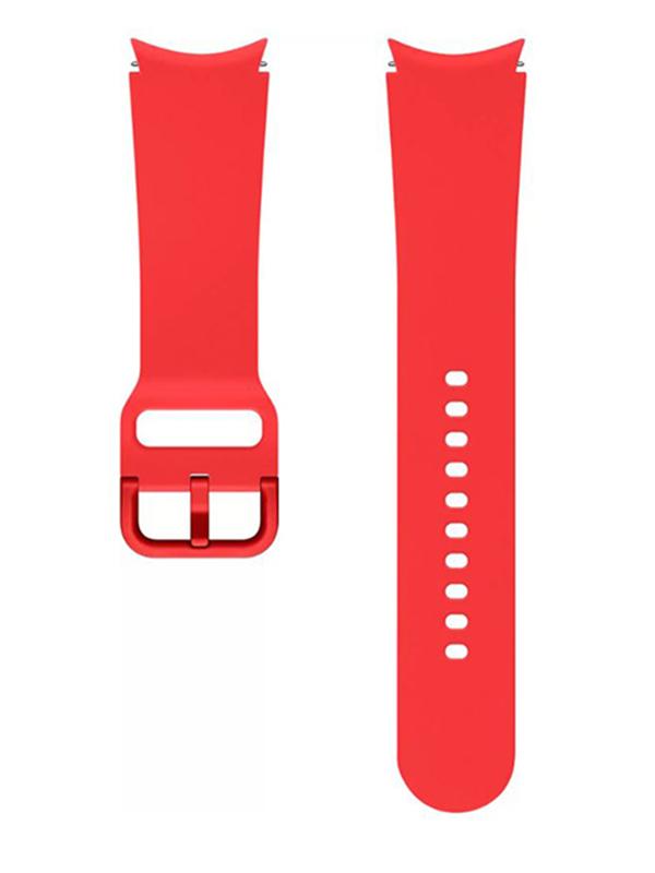 Aксессуар Ремешок для Samsung Galaxy Watch 4 / 4 Classic Sport Band 20mm S/M Red ET-SFR86SREGRU aксессуар ремешок samsung galaxy watch sport band pink et sfr82mpegru для active active 2